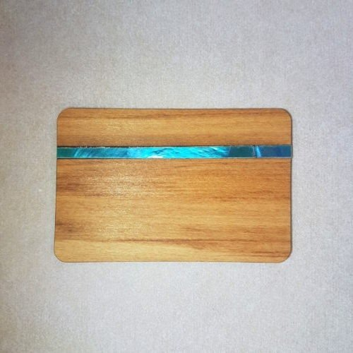 Image of an Paua and Wood WoodenBetOnIt Card