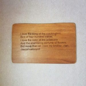 Image of an Amo el canto de cenzonitle WoodenBetOnIt Card