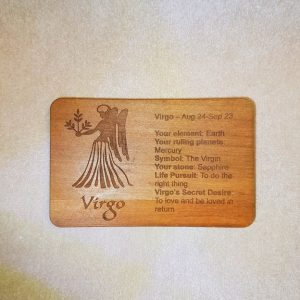 Image of a Virgo WoodenBetOnIt Card