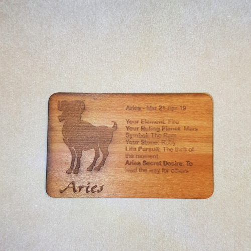 Image of a Aries WoodenBetOnIt Card