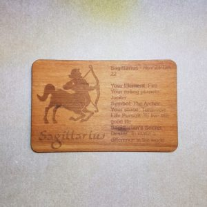 Image of a Sagittarius WoodenBetOnIt Card