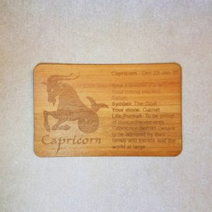 Image of a Capricorn WoodenBetOnIt Card