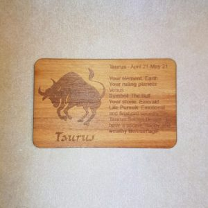 Image of a Taurus WoodenBetOnIt Card