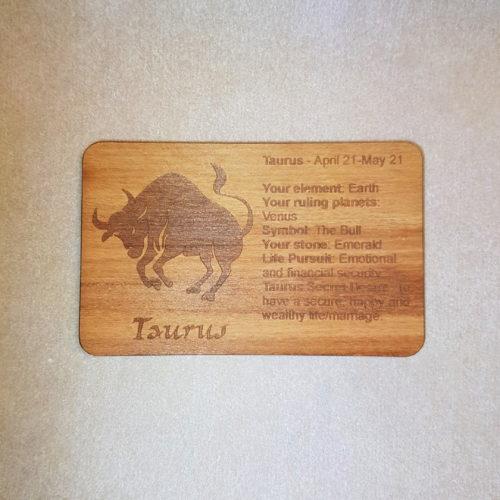 Image of a Taurus WoodenBetOnIt Card