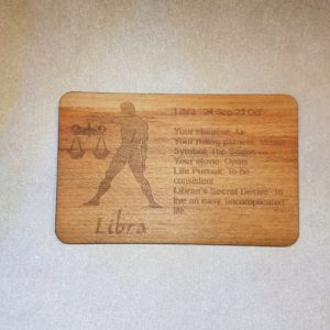 Image of a Libra WoodenBetOnIt Card