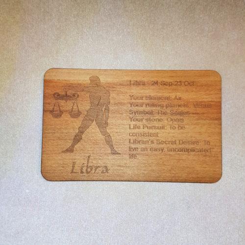 Image of a Libra WoodenBetOnIt Card