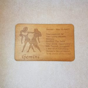 Image of a Gemini WoodenBetOnIt Card