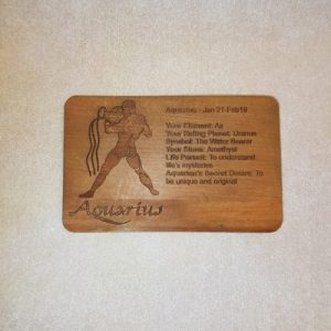 Image of a Aquarius WoodenBetOnIt Card