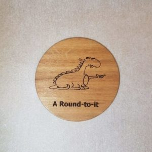 an image of a A round to it woodenbetonit card
