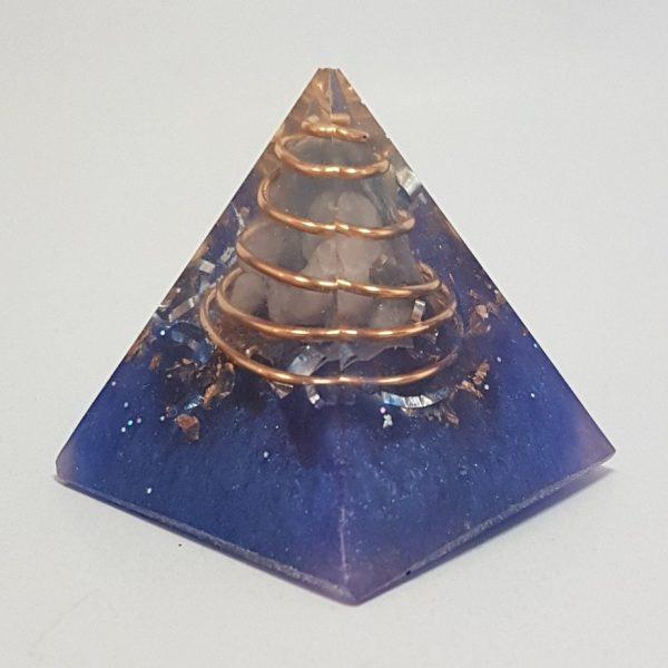 Kyanite Klean Quartz and Copper Orgoneit Pyramid