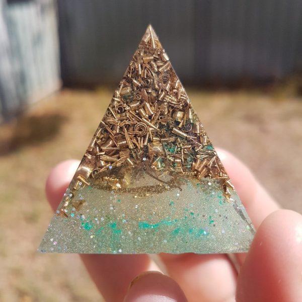 Full Circle Rose Quartz OrgoneIt Orgonite Pyramid 4cm 1