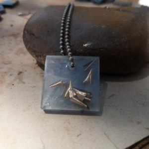 First Generation Pendant #4 OrgoneIt Orgonite Pyramid