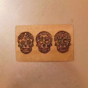 Day of the Dead Dia de Muertos WoodenBetOnIt Touch Wood Card