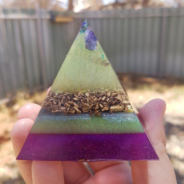 Alternate Reality Tourmaline OrgoneIt Orgonite Pyramid 6cm 1