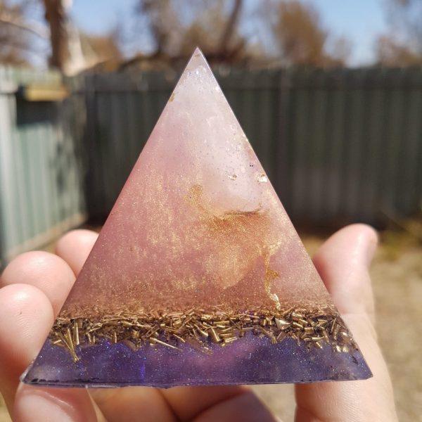 The Reykjavik Orgone Orgonite Pyramid 6cm 1
