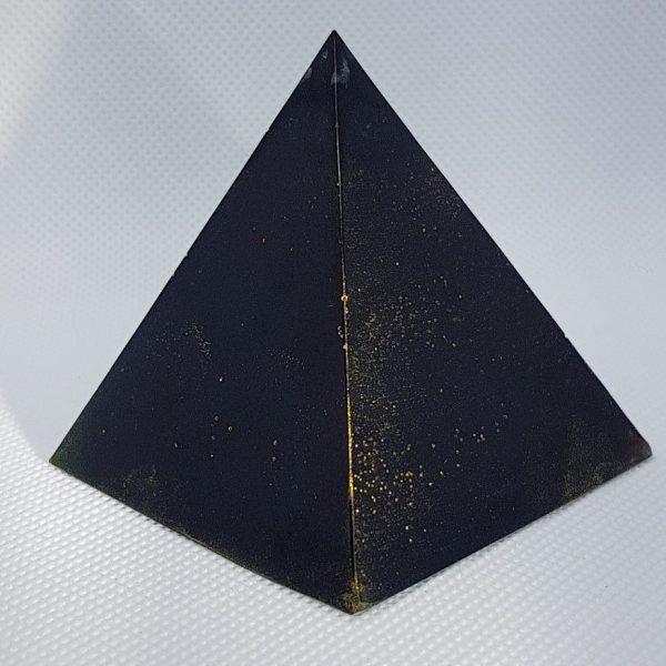 Golden Light Shungite Orgone Orgonite Pyramid 6cm