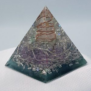 Twisted Reality Orgone Orgonite Pyramid 4cm