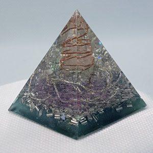 Twisted Reality Orgone Orgonite Pyramid 4cm