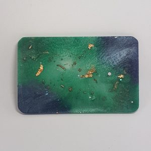 Ocean Currents Rose Quartz Orgonite Orgone Card