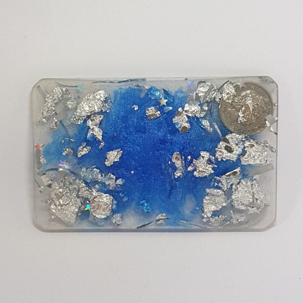 """Silver Coin"" Orgonite Card 1"