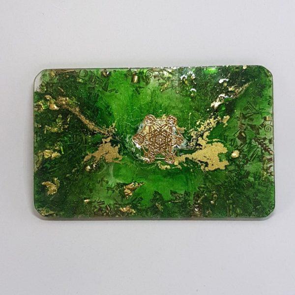 Green Orbit OrgoneIt Orgonite Card