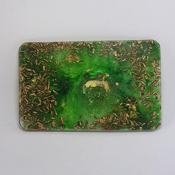 Green Orbit Orgone Orgonite Card 1