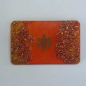 Burnt Ember Orgonite Card