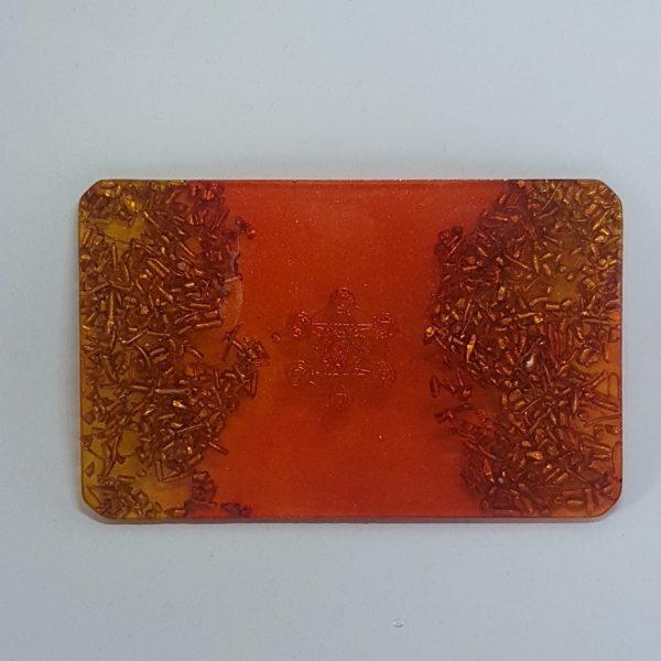 Burnt Ember Orgonite Card 1
