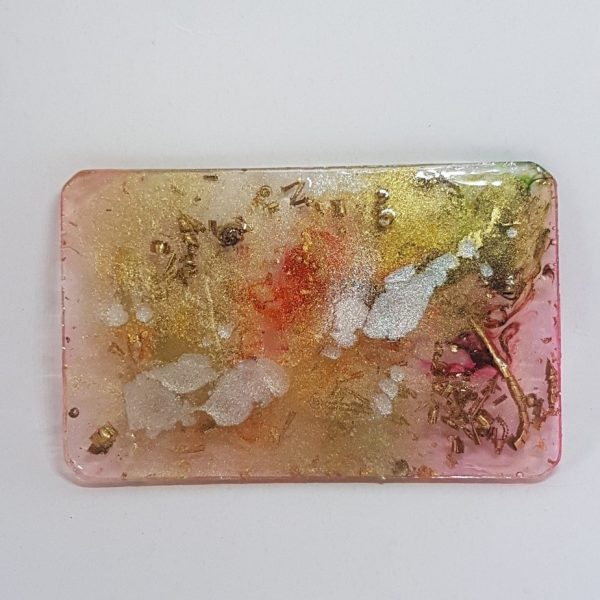 Pearl Splat Orgone Orgonite Card 1