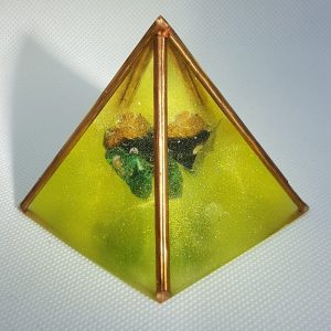 Fire Within Orgone Orgonite Pyramid 6cm