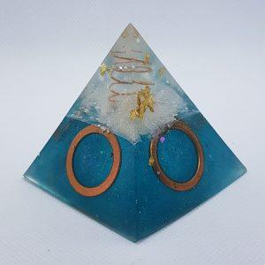 Nautilus Dreaming Orgone Orgonite Pyramid 6cm