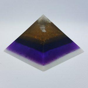 Colliding Atoms Orgonite Pyramid 7cm Giza