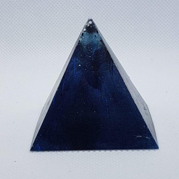 Deep Blue Ocean Orgone Orgonite Pyramid 5cm 1