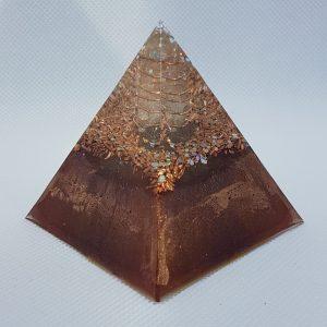 Burnt Embers Orgone Orgonite Pyramid 6cm