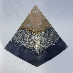 Peal back the Layers Orgone Orgonite Pyramid 6cm