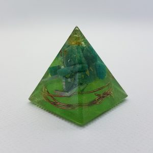 Amazonite Blast Orgone Orgonite Pyramid 3cm
