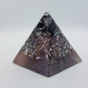 Moon Dust Obsidian Orgone Orgonite Pyramid 4cm