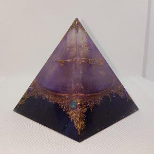 Morphing Nebula Orgone Orgonite Pyramid 9cm