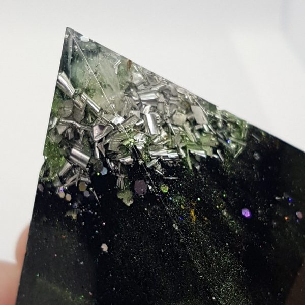 Chrysalis Shungite Orgone Orgonite Pyramid 6cm 2