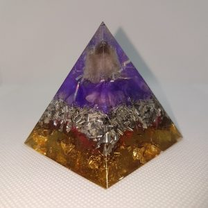 Smoke and Mirrors Orgone Orgonite Pyramid 6cm