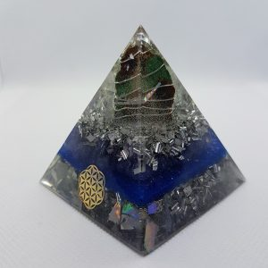 Crystal Clear Orgone Orgonite Pyramid 6cm