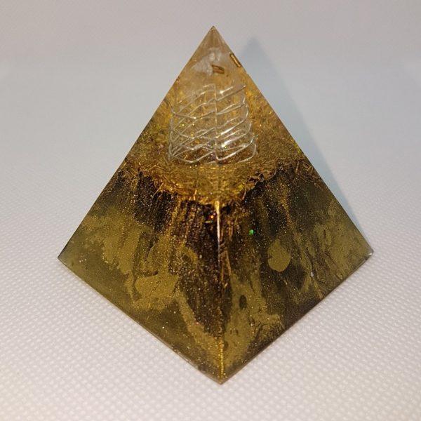 GoldenEye Orgone Orgonite Pyramid 6cm