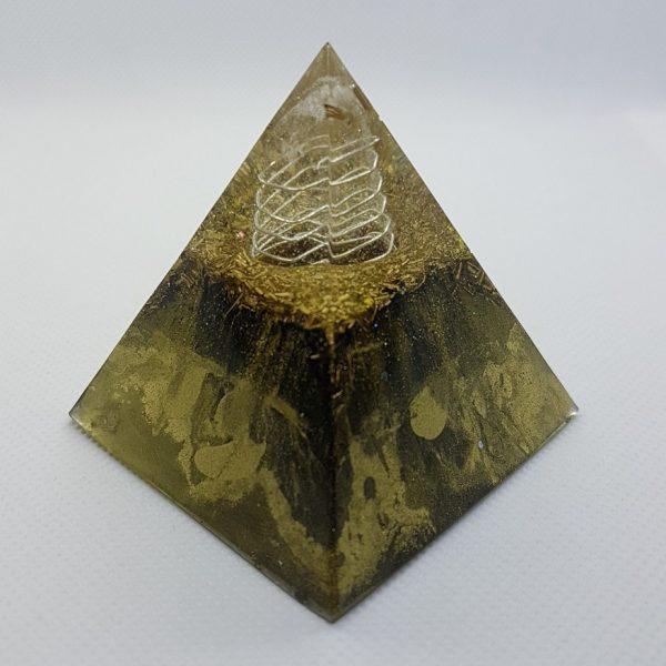 GoldenEye Orgone Orgonite Pyramid 6cm 3