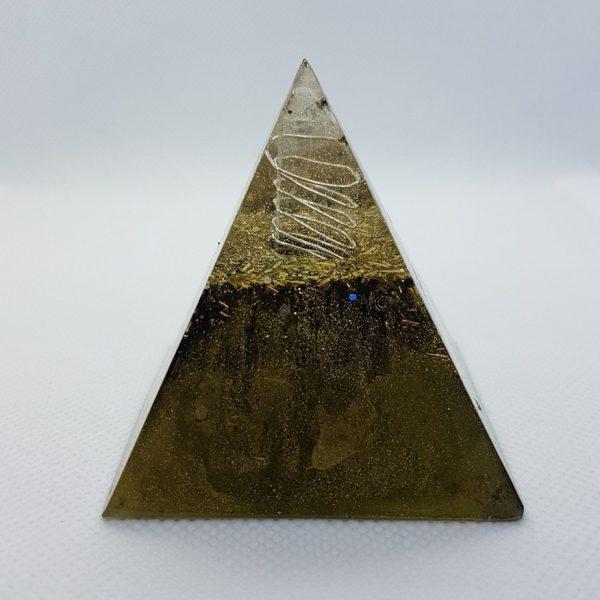 GoldenEye Orgone Orgonite Pyramid 6cm 1