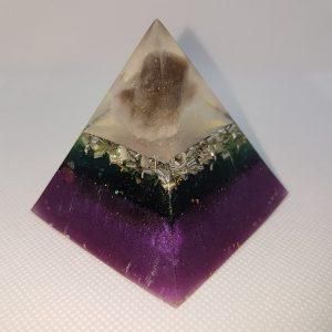 Reflecting Time Orgone Orgonite Pyramid 6cm