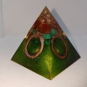 Rings of Hope Orgone Orgonite Pyramid 6cm