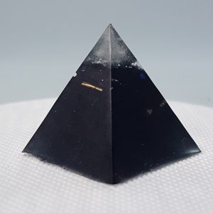 Protectoriser Orgone Orgonite Pyramid 3cm - Herkimer Diamonds, Quartz Point, Brass Alloy and Gold to help aid with EMF and RF protection
