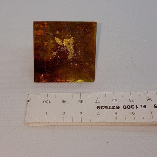 Rusted Mind Orgone Orgonite Pyramid 4cm 4