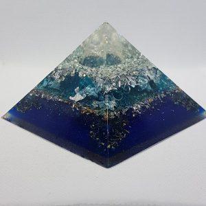 Theia Silver Quartz OrgoneIt Orgonite Pyramid 9.5cm