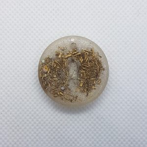 Third Generation OrgoneIt Orgonite Pendants Herkimer Diamond, 24 carat gold and brass. The Herkimer diamond is also known as the Stone of Attunement because it can help you attune to any situation or environment. This crystal can powerfully amplify your spiritual energy.